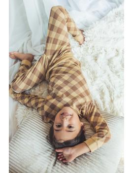 Quapi - Pyjama - Puck - Check Brown