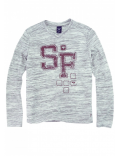 SevenOneSeven - T-shirt LS - Thunder Grey AW Grape