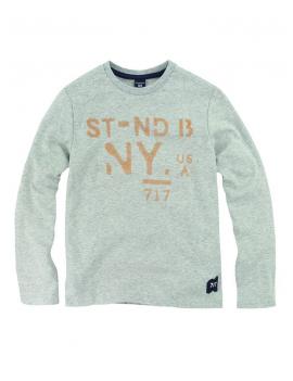 SevenOneSeven - T-shirt LS Tilian - Grey Melange