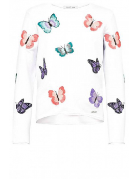 Liu Jo - Sweater Felpa Butterfly