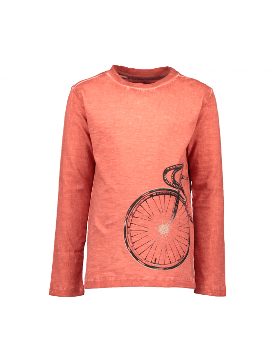 Moodstreet - Boys Solid T-Shirt LS bic - Cool Orange