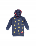 Claesen's - Girls Hooded Sweater Dress - Navy Gold Star