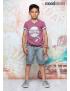 Moodstreet - Boys ss t - shirt baseball - Washed Grape