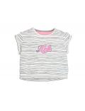Moodstreet - Girls wide short t - shirt - Antra Stripe