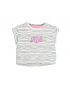 Moodstreet - Girls wide short t - shirt - Antra Stripe