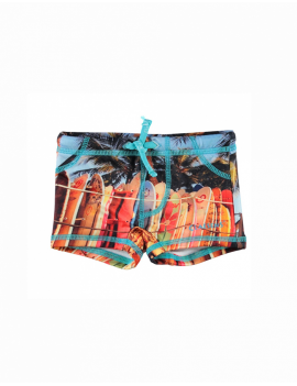 Claesen's - Boys Tight Fit Swimboxer - Surfboards Print