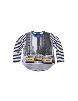 Claesen's - Boys t - shirt longsleeve - Yellow Taxi