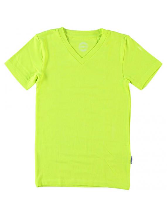 T - shirt V Neck - Pyjama - Neon Yellow