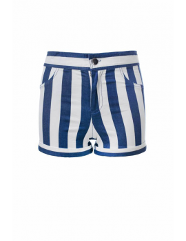 Looxs - Short - Rayures Verticales Bleu / Blanc
