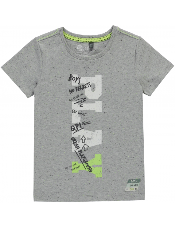 Quapi - T-Shirt - Lighttgrey Melee Neppy