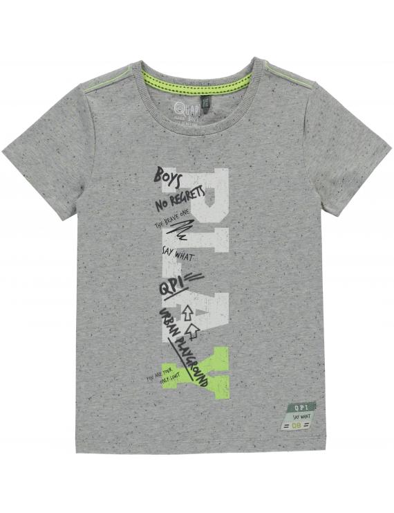 Quapi - T-Shirt - Sam - Lighttgrey Melee Neppy