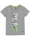 Quapi - T-Shirt - Sam - Lighttgrey Melee Neppy