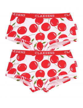 Claesen's - Girls - 2-Pack Hipster - Cherries