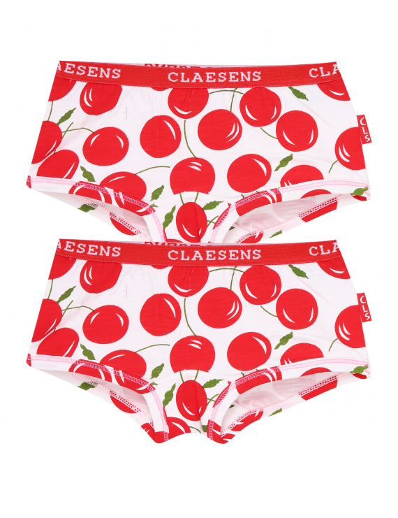 Claesen's - Girls 2-Pack Hipster - Cherries