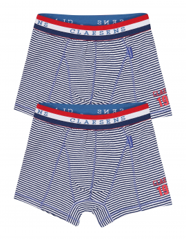 Claesen's - Boys 2-Pack Boxershorts - Navy Stripes
