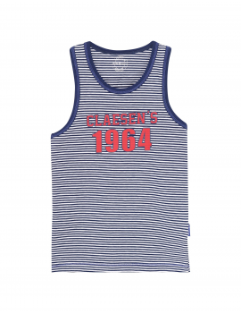 Claesen's - Boys Singlet - Navy Stripes