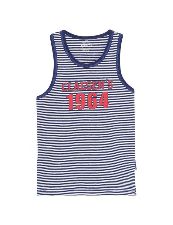 Claesen's - Boys Singlet - Navy Stripes