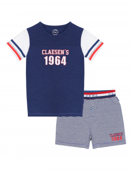 Claesen's - Boys Pyjama - Navy Stripes