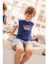 Claesen's - Boys Pyjama - Navy Stripes