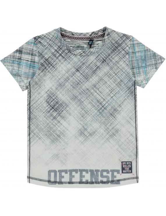 Quapi - T-Shirt - Sandor - Navy Raster