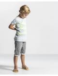 Quapi - T-Shirt - Savino - Arctic Green Stripe