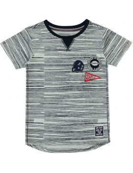Quapi - T-Shirt - Saim - Navy Stripe