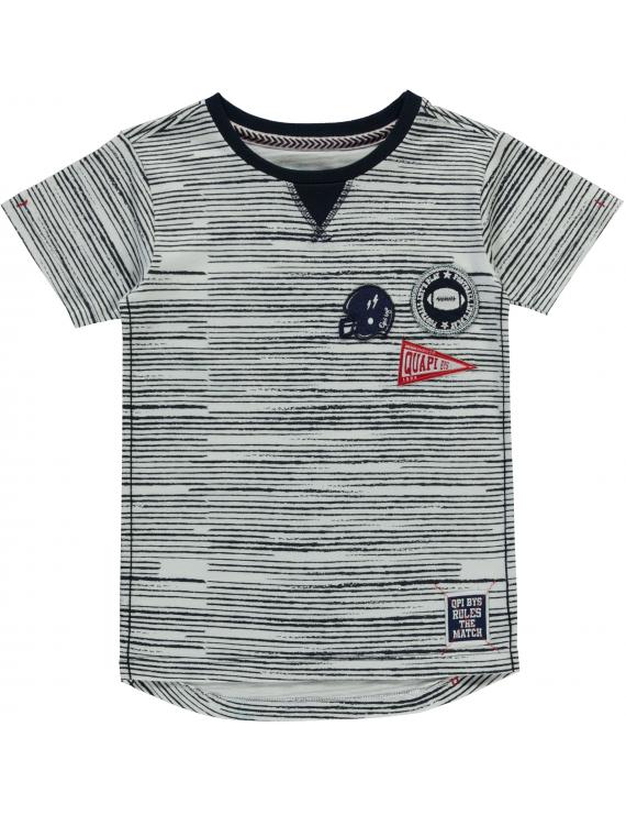 Quapi - T-Shirt - Saim - Navy Stripe
