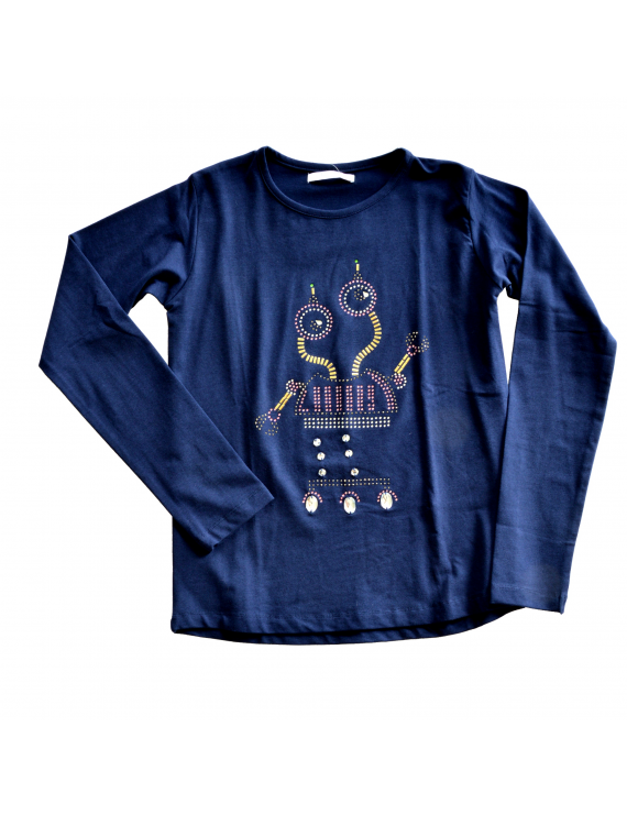 Blue Bay - Longsleeve Gitty Robot Navy