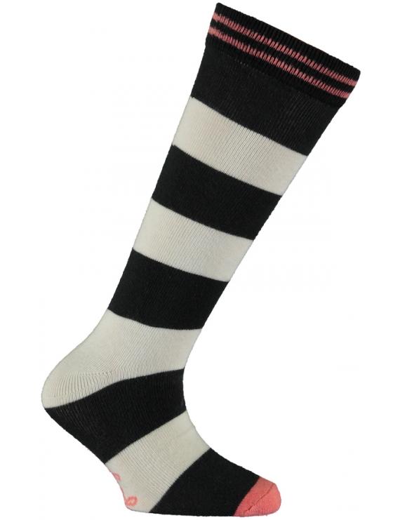 Quapi - Kniekousen - Teuni - Dark Grey Stripe