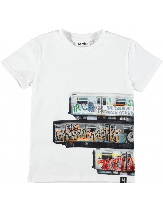 Molo - T-Shirt - Raven - Subway Stripe