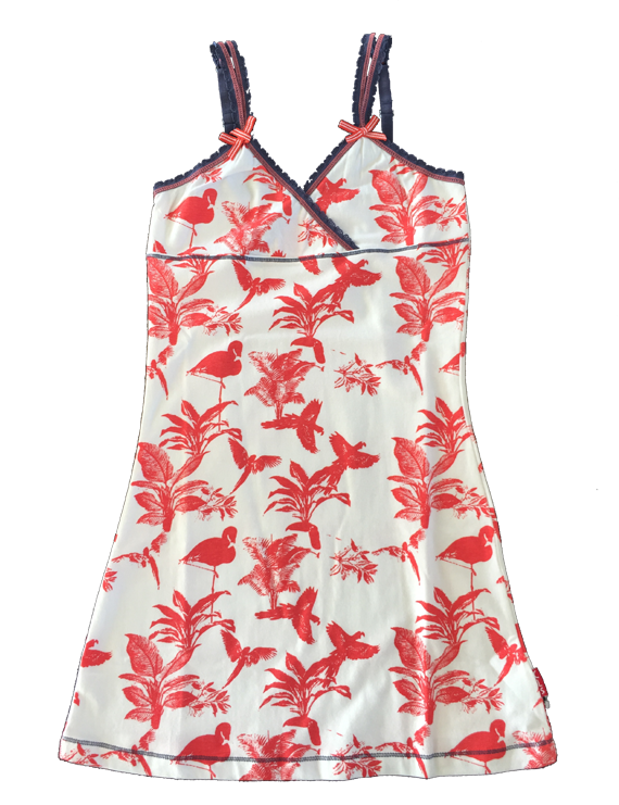 Claesen - Girls Dress - Parrot