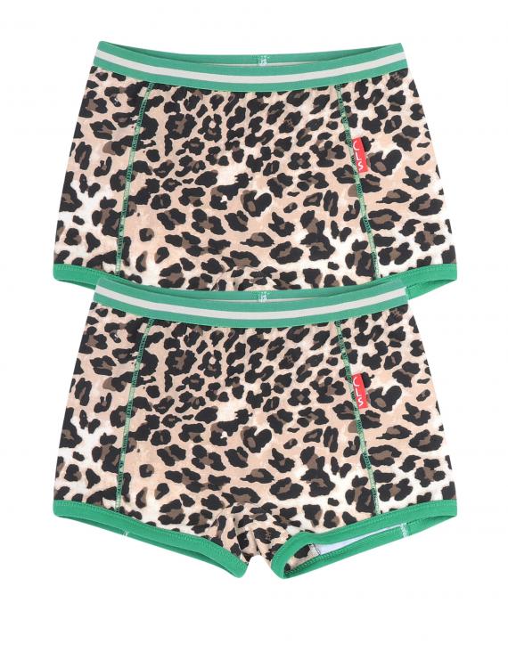 Claesen's - Girls 2-pack Boxershorts - Brown Panther