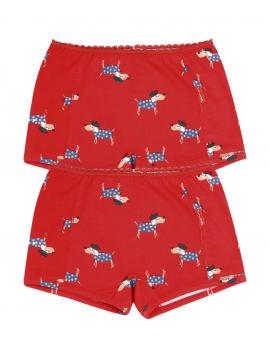 Claesen's - Girls 2-pack Boxershorts - Dog