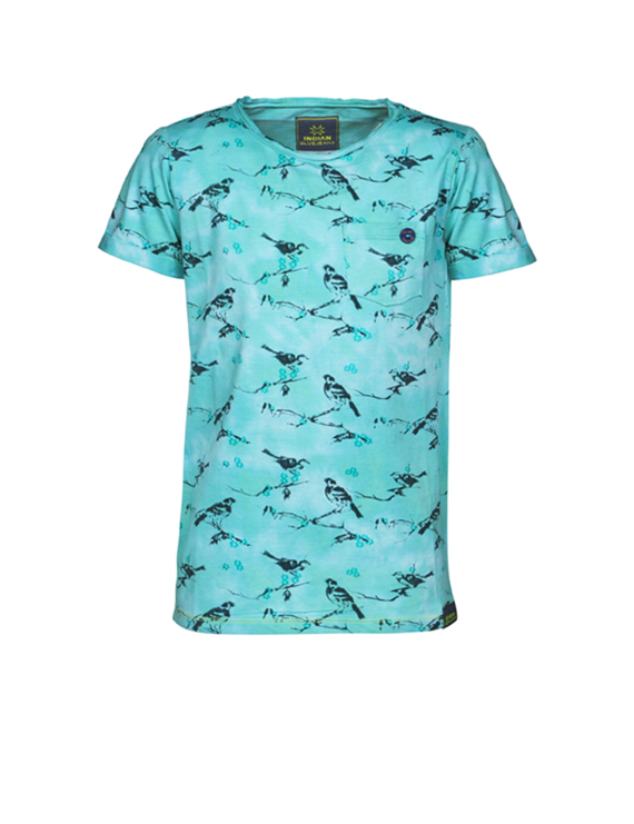 Indian Blue Jeans - T - shirt SS Bird - Sea Green