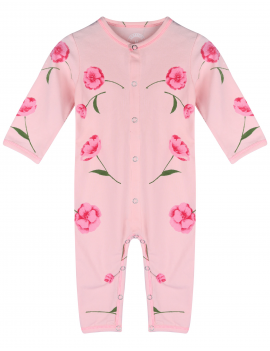Claesen's - Girls Jumpsuit - Pink Flower