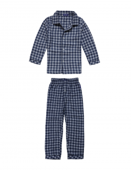 Claesen's - Boys Pyjama Flannel - Navy Checks