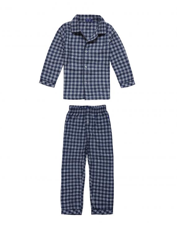 Claesen's - Boys Pyjama Flannel - Navy Checks