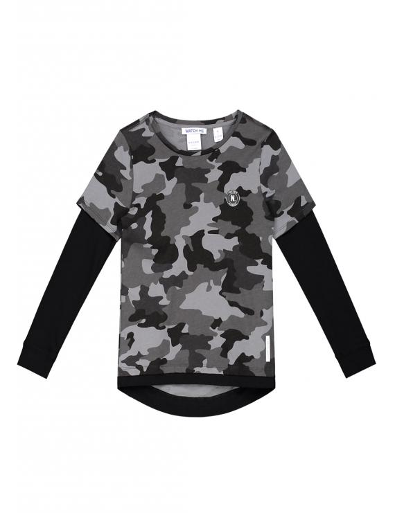 Nik & Nik - Longsleeve - Pasha Dark Camouflage