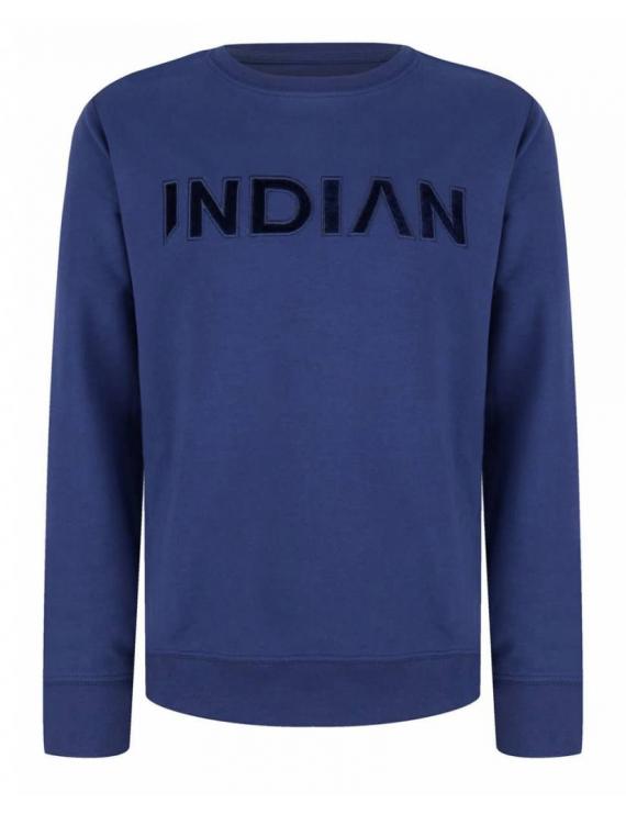 Indian Blue Jeans - Longsleeve - Deep Blue Crewneck