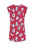 Quapi - Jurk - Aafje - Cherry Red Letter