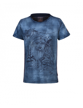 Indian Blue Jeans - T-Shirt SS Sketch - Indigo
