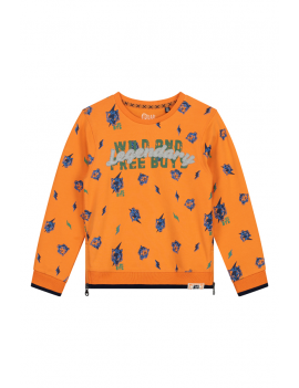 Quapi - Sweater - Andre - Manderin Orange Tiger
