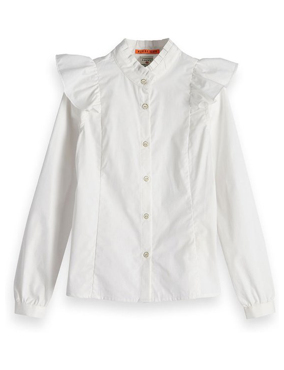 Scotch & Soda - R'Belle - Hemd - Ruffles White