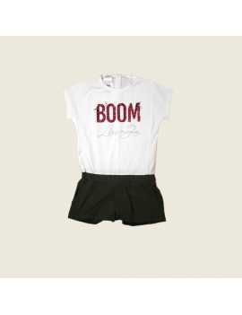 Liu Jo - Jumpsuit - Boom - White / Khaki