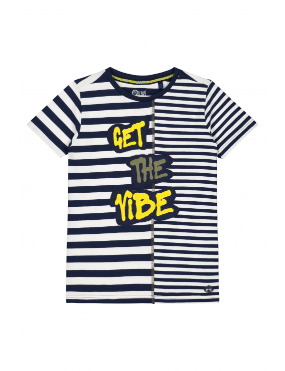 Quapi - T-Shirt - Aaron - Dark Blue Stripe