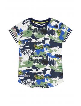 Quapi - T-Shirt - Alberto - Grafiti AOP