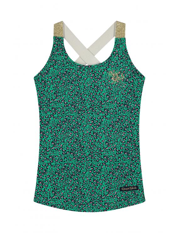 Quapi - Top - Amielle - Jungle Green Leopard