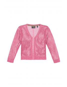 Quapi - Cardigan - Annelou - Hot Pink