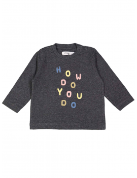 Filou - T-shirt Howdo Speckle - Grijs