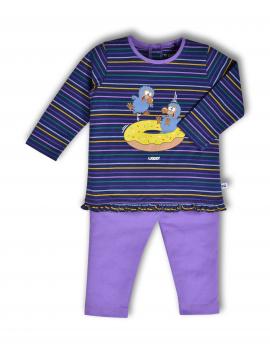 Woody - Pyjama - Donkerblauw-paars gestreept - Dodo